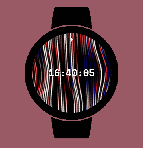 Thumbnail Circle Strata Watch Face — Colorful lines movement