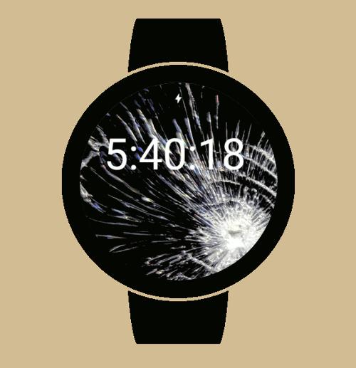 Imagen en miniatura del Crash Watch Face — Broma pantalla de reloj rota