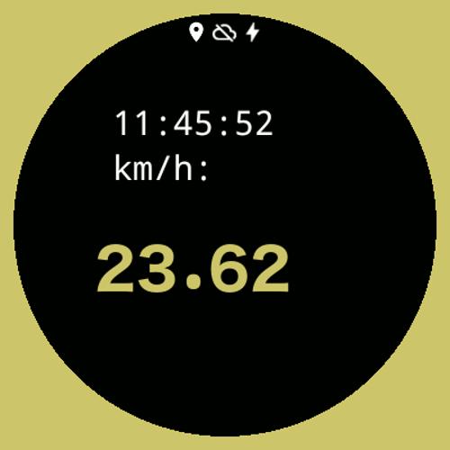 Imagen en miniatura del Velocidad Digital - Esfera de reloj
