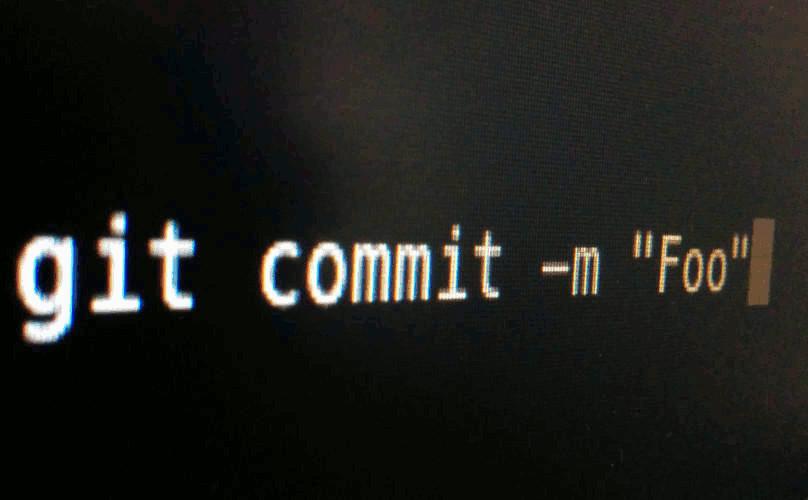 Captura de pantalla del comando Git