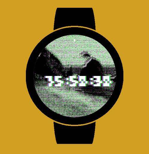 Imagen en miniatura del Glitch Watch Face — 20 fondos de Glitch art