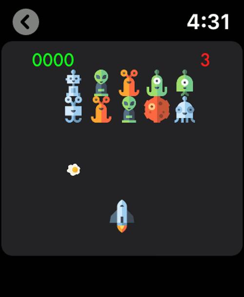 Imagen en miniatura del juego Iconos invasores — Juego reloj
