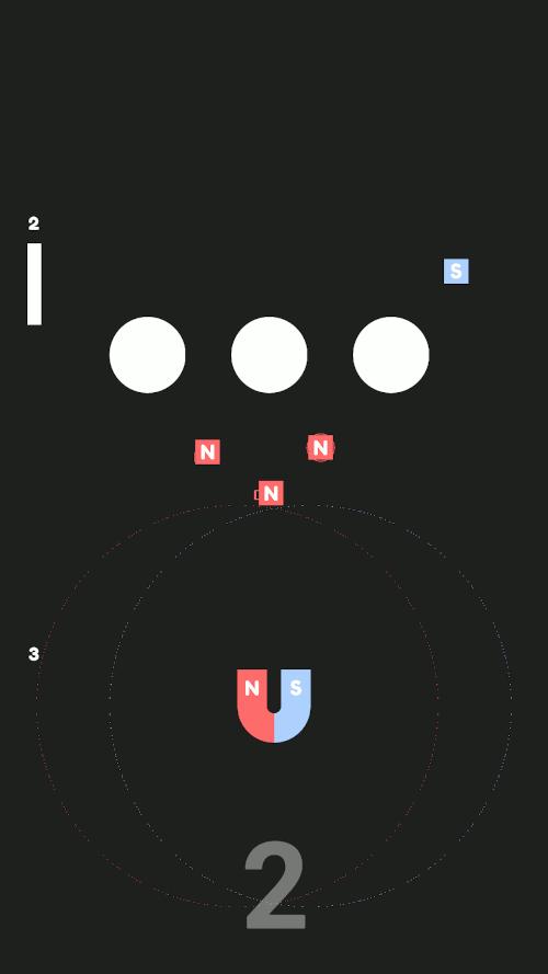 Imagen en miniatura del juego Magnetic Dipole. Los polos opuestos se atraen y los polos del mismo signo se repelen