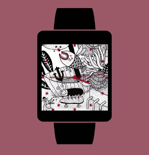 Imagen en miniatura del Melancolía Watch Face - 10 diseños arte doodle